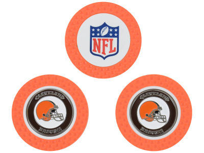 Cleveland Browns Golf Poker Chip Markers 3 Pack