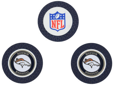 Denver Broncos Golf Poker Chip Markers 3 Pack