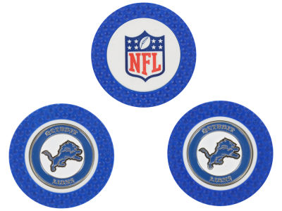 Detroit Lions Golf Poker Chip Markers 3 Pack