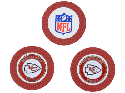 Kansas City Chiefs Golf Poker Chip Markers 3 Pack