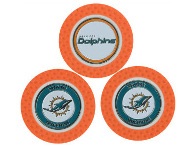 Miami Dolphins Golf Poker Chip Markers 3 Pack