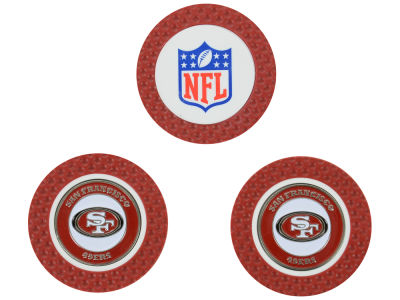 San Francisco 49ers Golf Poker Chip Markers 3 Pack