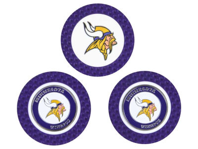 Minnesota Vikings Golf Poker Chip Markers 3 Pack