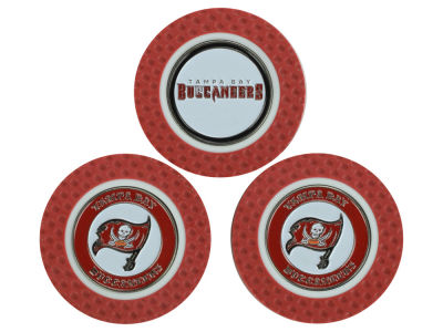 Tampa Bay Buccaneers Golf Poker Chip Markers 3 Pack