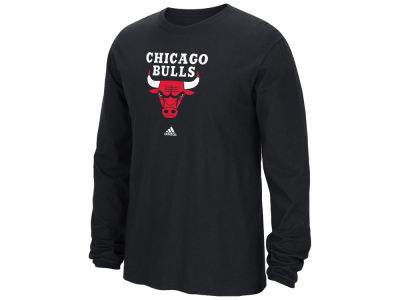 Chicago Bulls adidas NBA Men's Current Logo Long Sleeve T-Shirt