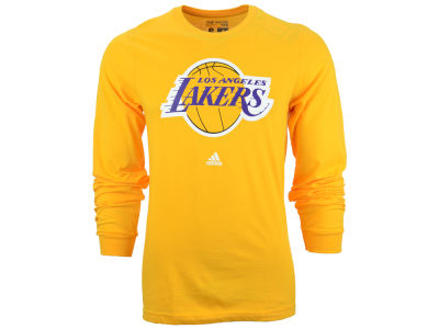 Los Angeles Lakers adidas NBA Men's Current Logo Long Sleeve T-Shirt