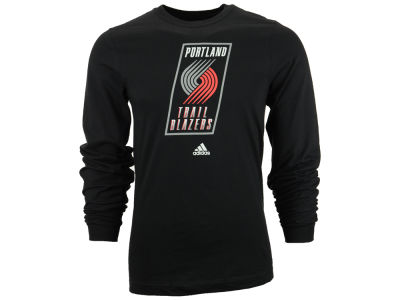 Portland Trail Blazers adidas NBA Men's Current Logo Long Sleeve T-Shirt