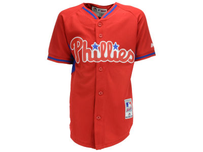 Philadelphia Phillies MLB Youth Cool Base BP Jersey