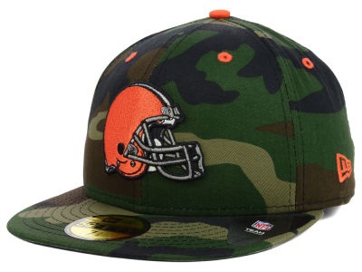 Cleveland Browns New Era NFL Camo Pop 59FIFTY Cap
