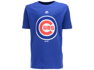 Chicago Cubs Majestic MLB Youth Primary Logo T-Shirt