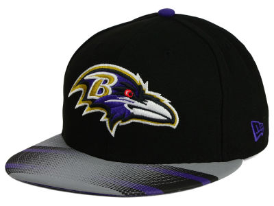 Baltimore Ravens New Era NFL Visor Stripe 59FIFTY Cap