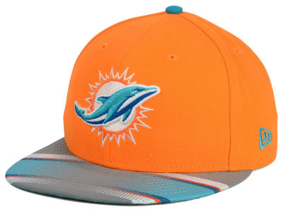 Miami Dolphins New Era NFL Visor Stripe 59FIFTY Cap