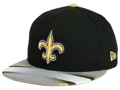 New Orleans Saints New Era NFL Visor Stripe 59FIFTY Cap