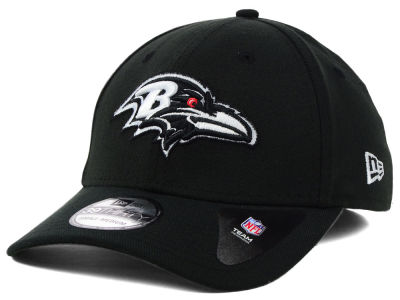 Baltimore Ravens New Era NFL Black White Team Classic 39THIRTY Cap