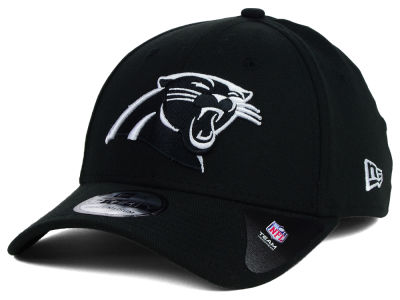 Carolina Panthers New Era NFL Black White Team Classic 39THIRTY Cap