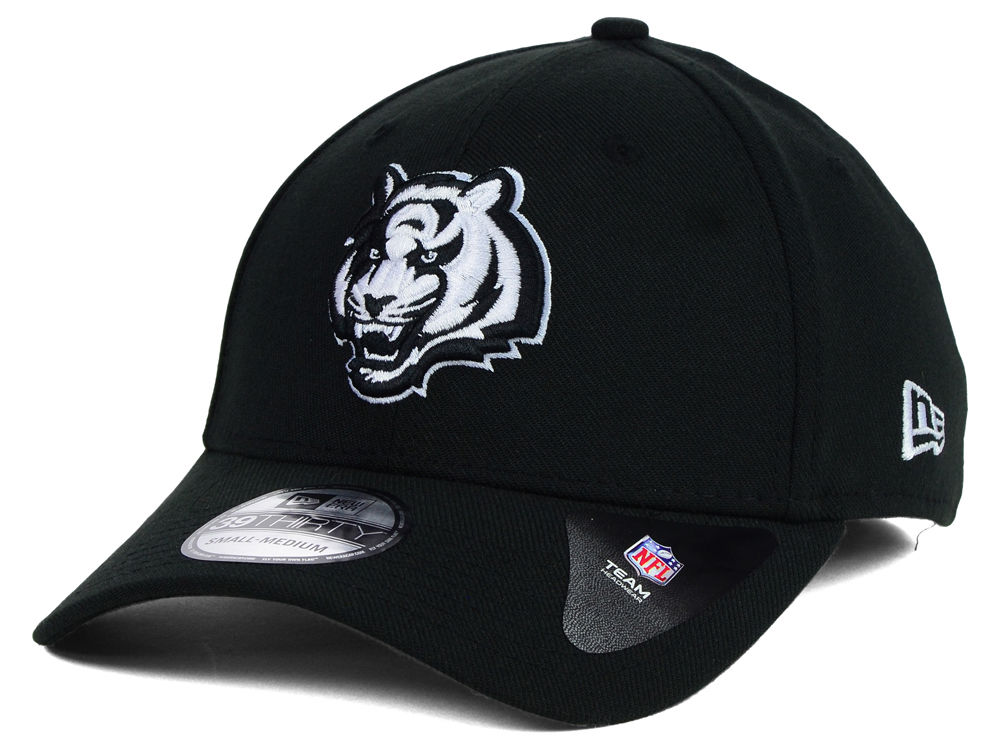 e44795cec ... wholesale cincinnati bengals new era nfl black white team classic  39thirty cap 814d0 d5790