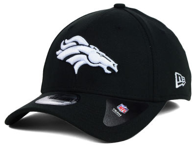 Denver Broncos New Era NFL Black White Team Classic 39THIRTY Cap