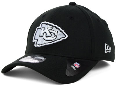 Kansas City Chiefs New Era NFL Black White Team Classic 39THIRTY Cap