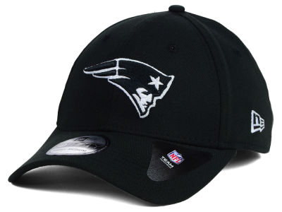 New England Patriots New Era NFL Black White Team Classic 39THIRTY Cap