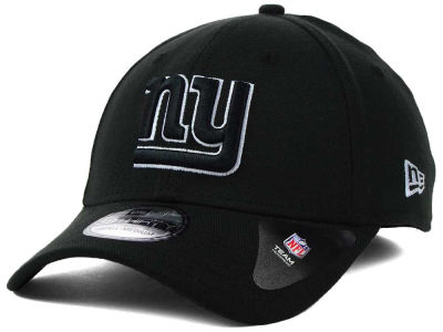 New York Giants New Era NFL Black White Team Classic 39THIRTY Cap