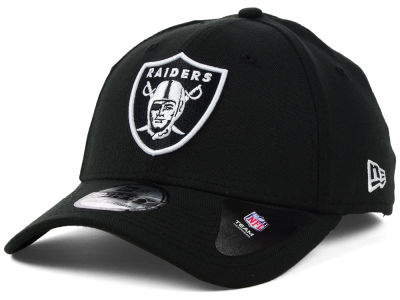 Oakland Raiders New Era NFL Black White Team Classic 39THIRTY Cap
