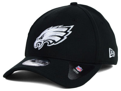 Philadelphia Eagles New Era NFL Black White Team Classic 39THIRTY Cap