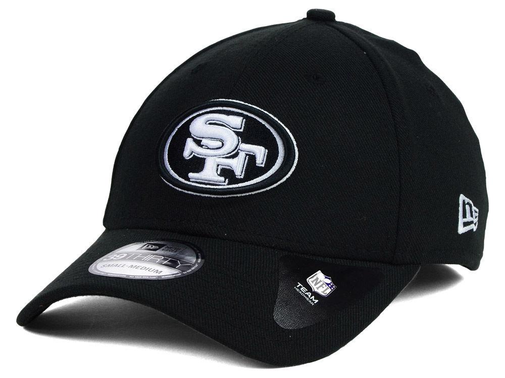 new arrival 6ee2e 0d18b ... spain san francisco 49ers new era nfl black white team classic 39thirty  cap 4e9c6 9e76f