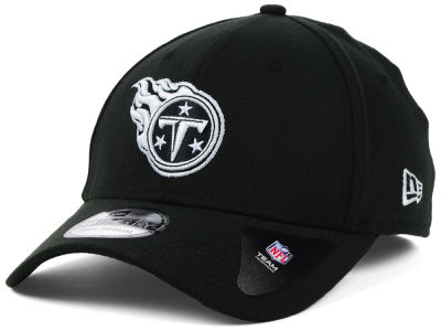 Tennessee Titans New Era NFL Black White Team Classic 39THIRTY Cap