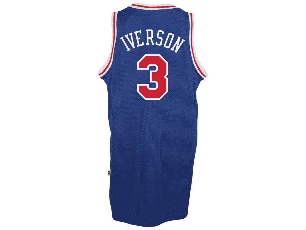 Philadelphia 76ers Allen Iverson adidas NBA Men s Retired Player Swingman  Jersey  dbf012366
