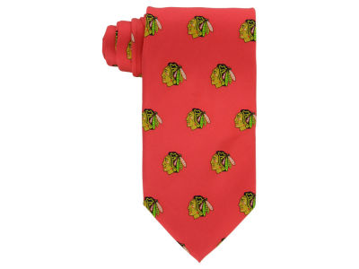 Chicago Blackhawks Prep Silk Repeat Tie