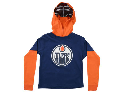 Edmonton Oilers NHL Toddler Wizard Long Sleeve Hooded T-Shirt