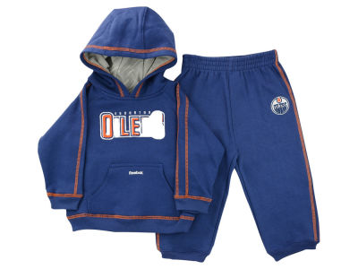 Edmonton Oilers NHL Kids Fleece Hood and Pant Set