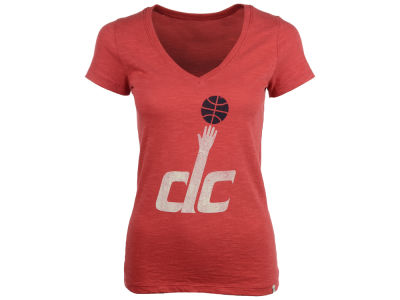 Washington Wizards '47 NBA Womens V-Neck Logo Scrum T-Shirt