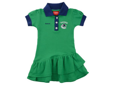 Vancouver Canucks NHL Kids Ruffle Polo Dress
