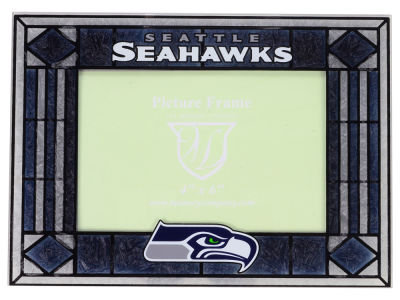 Seattle Seahawks Art Glass Picture Frame