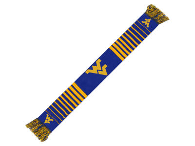 West Virginia Mountaineers Acrylic Knit Scarf Big Logo