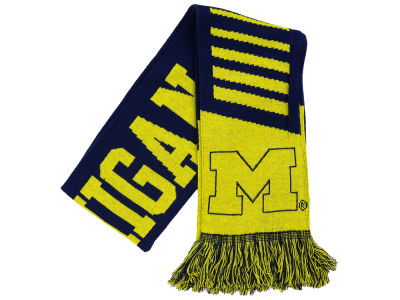 Michigan Wolverines Knit Scarf Wordmark