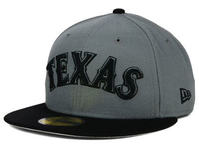 Texas Rangers New Era MLB FC Gray Black 59FIFTY Cap