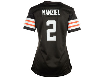 Cleveland Browns Johnny Manziel Nike NFL Women's Game Jersey