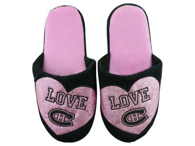 Montreal Canadiens Ladies Love Glitter Slide Slippers