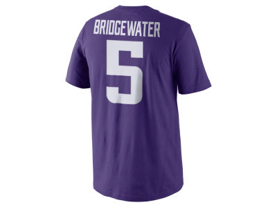 Minnesota Vikings Teddy Bridgewater Nike NFL Pride Name and Number T-Shirt