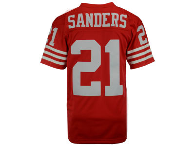 San Francisco 49ers Deion Sanders Mitchell and Ness NFL Replica Throwback Jersey