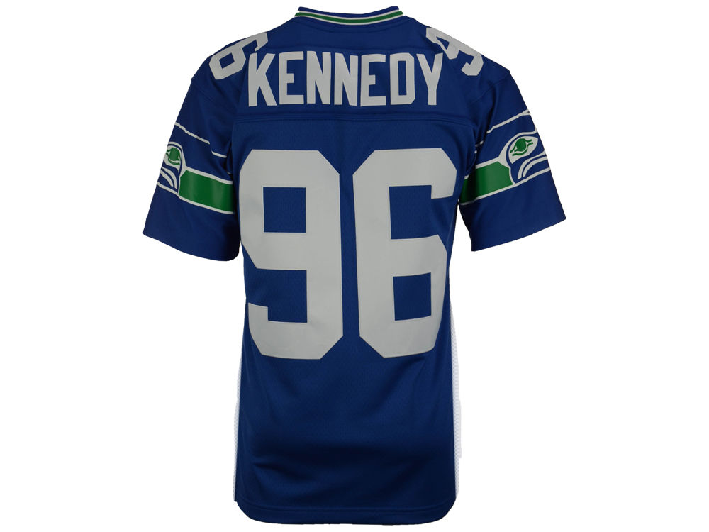 best loved 7b16a 5cc4b Seattle Seahawks Cortez Kennedy Mitchell & Ness NFL Replica Throwback Jersey