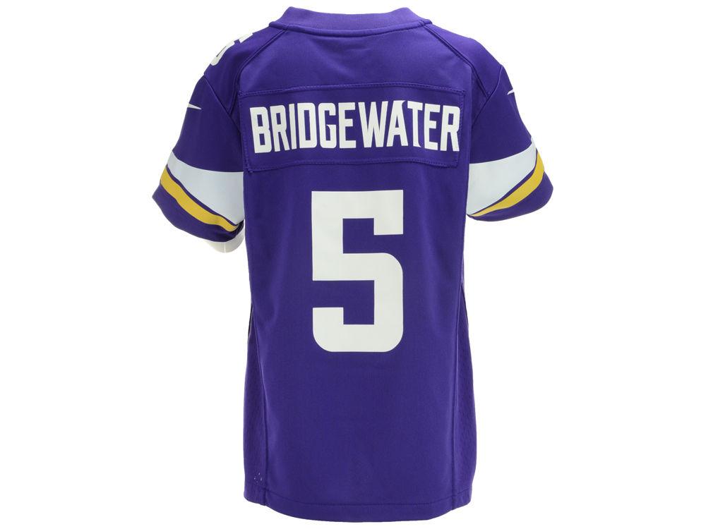 7bfa35b4f Minnesota Vikings Teddy Bridgewater Nike NFL Youth Game Jersey ...