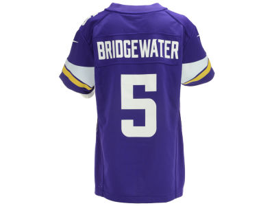 Minnesota Vikings Teddy Bridgewater Nike NFL Youth Game Jersey