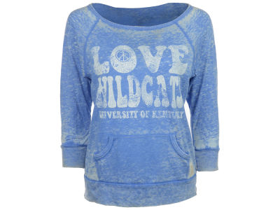 Kentucky Wildcats NCAA Womens Established Burnout Crew Sweatshirt