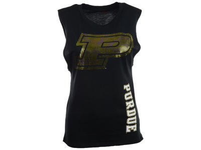 Purdue Boilermakers NCAA Womens Foil Rocker Tank