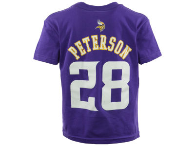 Minnesota Vikings Adrian Peterson Outerstuff NFL Youth Mainliner Player T-Shirt