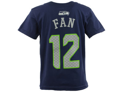 Seattle Seahawks Fan #12 Outerstuff NFL Youth Mainliner Player T-Shirt