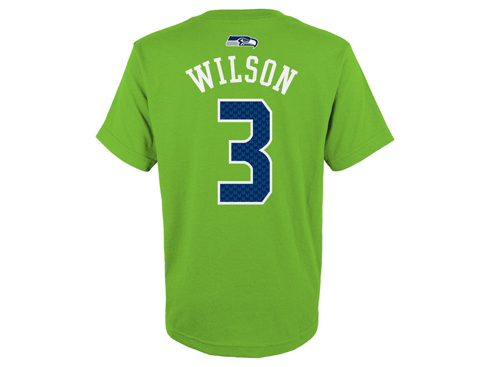 a2b7030d Seattle Seahawks Russell Wilson Outerstuff NFL Youth Mainliner Player  T-Shirt